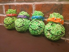 Ninja Turtles Rice Krispy Treats!