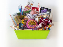 CandyRama ($25) – Sometimes we all need a little throw back! Our CandyRama basket brings together old favorites like Candy Buttons, Wax Tubes, Marshmallow Ice Cream Cones and Candy Cigarettes with current classics like Fun Dip, Pop Rocks, Sweedish Fish and Jelly Belly! This basket is sure to brighten up any candy lover's day!