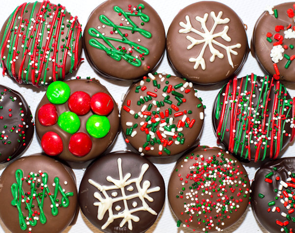 Chocolate Holiday Oreos