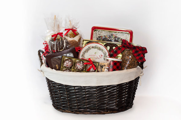 Plaid Holiday Gift  Basket