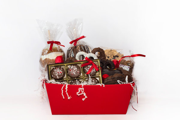 Gold Holiday Gift Basket