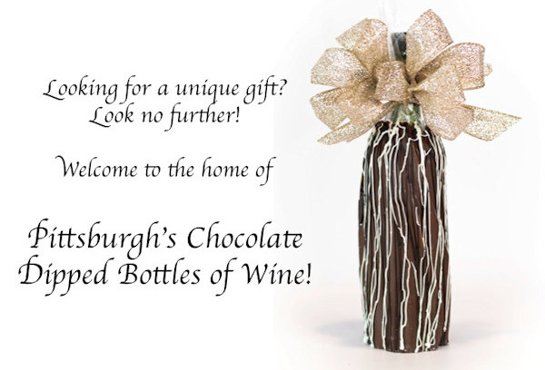 CLICK HERE for Chocolate Dipped Bottles of Wine by My Favorite Sweet Shoppe