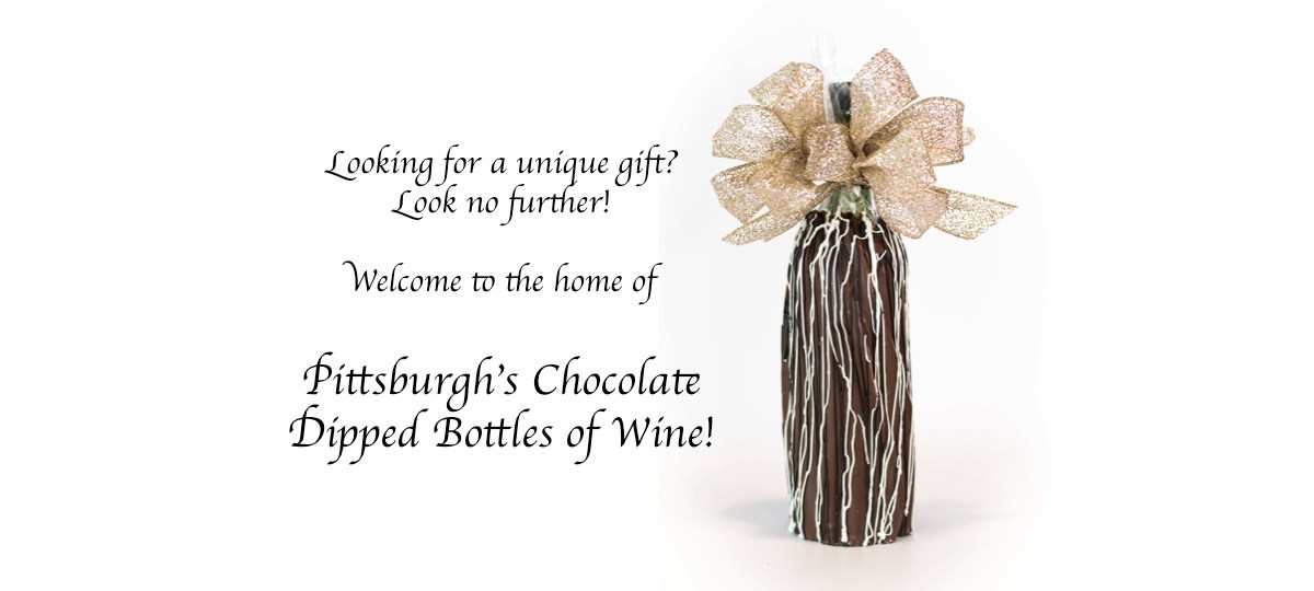 Pittsburghs Chocolate Dipped Bottles of Wine by My Favorite Sweet Shoppe
